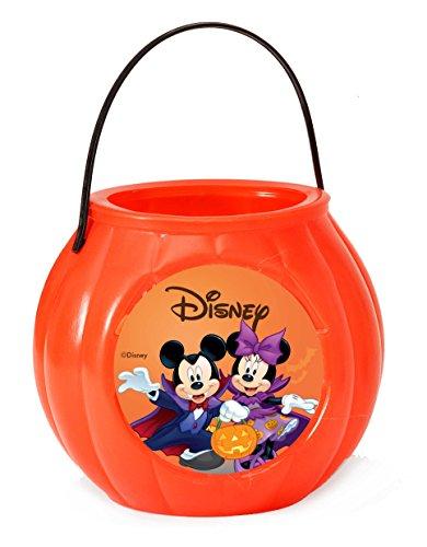 """Ciao 29021 - Zucca Contenitore """"Dolcetto o Scherzetto"""" Disney Halloween Mickey e Minnie (Diametro 18 Cm), Arancio"""