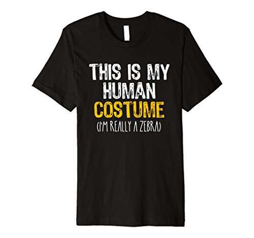 This Is My Echthaar Kostüm Zebra Halloween Funny T-Shirt