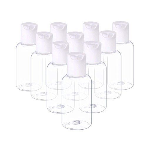 Lvcky 12Packungen Clear Travel Flaschen leer Dosen Flasche für Shampoo, Conditioner, Lotion, Toilettenartikel (30ml)