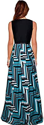 Aarna Fashion Women's Crepe Printed Western Gown with Belt (skyskirt, Turquoise, Free Size)