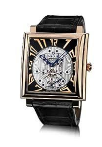 Milus Herren-Armbanduhr XL Herios AnalogAutomatik Leder HERT400