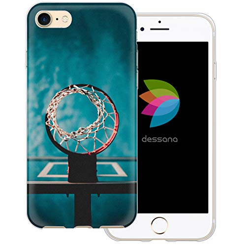 dessana Basketball Transparente Schutzhülle Handy Case Cover Tasche für Apple iPhone 7 Wurfnetz Ball Apple-ball