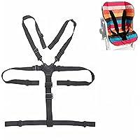 Amcho arnés de 5 puntos para silla de bebé, cinturón de seguridad universal para silla alta de madera