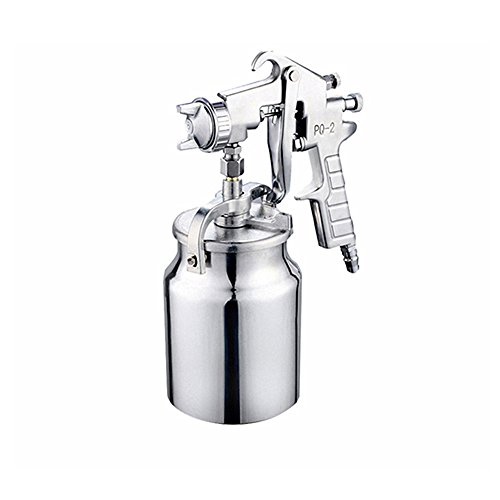 Jian Ya Na Professionelle PQ-2 Gravity-Feed Spritzpistole 2,0 mm Düsengröße 1000er Aluminium Cup Silber