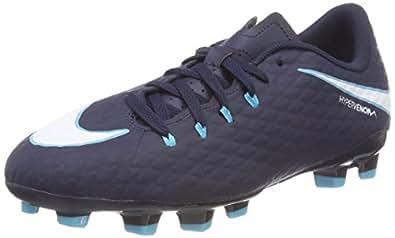 Nike Unisex-Kinder Hypervenom Phelon III FG JR 852595 414 Fußballschuhe, Blau (Obsidian/Gamma Blue/Glacier Blue/White 414), 38.5 EU