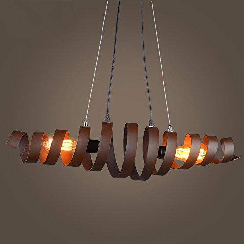 BAYCHEER Industrielampe Kronleuchter Eisen Lampe Länge 70cm Bar Loft Design Leuchte