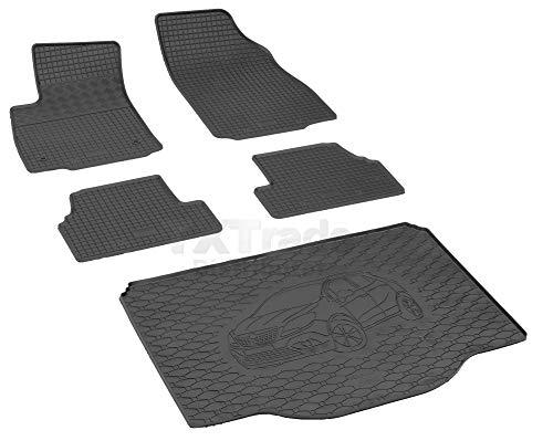 Passende Gummimatten und Kofferraumwanne Set geeignet für OPEL Mokka ab 2012ein Satz