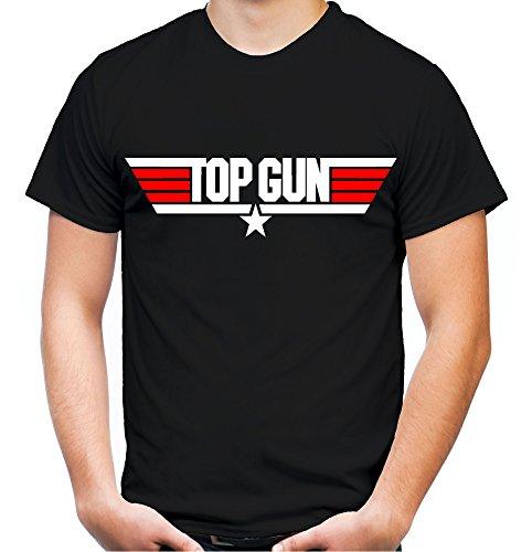 Top Gun Männer und Herren T-Shirt | Spruch Maverick Tom Cruise Geschenk | M1 (M, Schwarz)