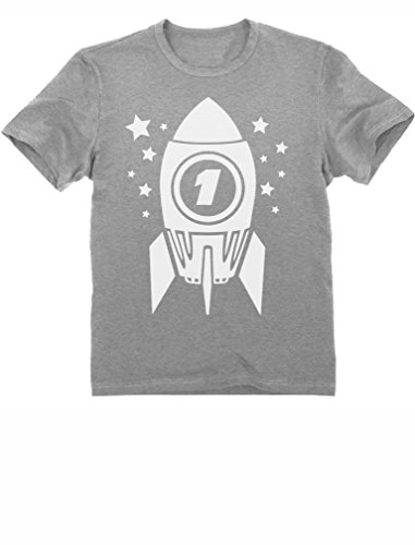 One Year Old 1st Birthday Party Bday Gift Present Cute Space Rocket Toddler/Infant Kids T-Shirt
