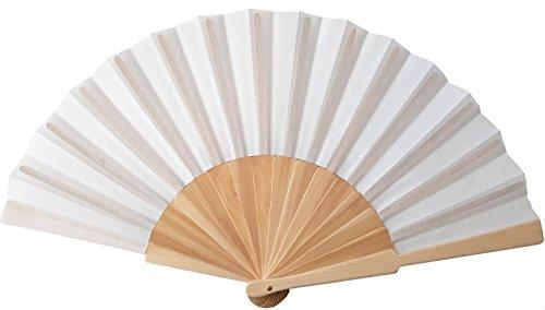 Dekoration Fächer ZuverläSsig Papierfächer Handfächer Fächer Weiss Zu Malen Für Hochzeit Fest Theater