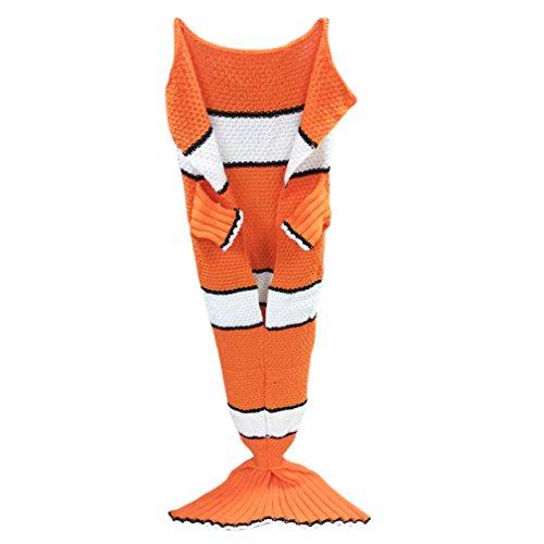 Mermaid, sirena coda regalo perfetto soffice coperta copertina nemo pesce tappeto, in maglia morbidi mermaid coda sacco a pelo per adulti o bambini 55in * 25in