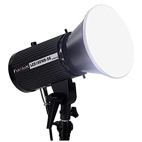 Fotodiox Pro led100wb de 56Studio LED, 5600K LED High Intensity Daylight Studio Light For And Vidéo–With Dimmable d'allaitement Control, 12V AC Power adaptateur, Light Bracket Support, IRC > 95(Single Light)