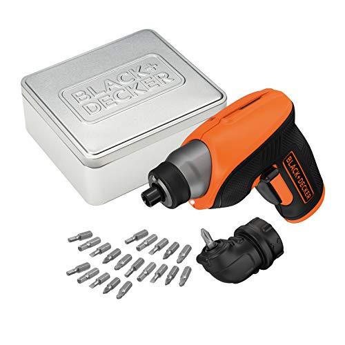 BLACK+DECKER CS3652LCAT- QW -  Atornillador 3.6V,  batería 1.5Ah,  incluye 20 brocas y caja de almacenamiento