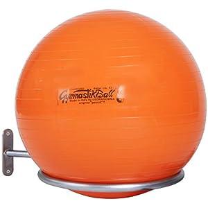 Sport-Thieme® Gymnastikball Halterung | Wandhalterung für Bälle mit 45-90 cm | Für Sitzbälle, Pezzibälle, ABS Powerballs und Fußbälle im Netz | Nutzlast ca. 4 kg | Verzinktes Stahlrohr