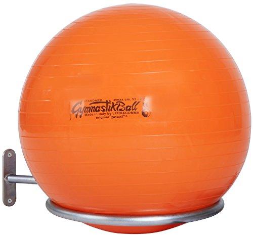Sport-Thieme® Gymnastikball Halterung | Wandhalterung für Bälle mit 45-90 cm | Für Sitzbälle, Pezzibälle, ABS Powerballs und Fußbälle im Netz | Nutzlast ca. 4 kg | Verzinktes Stahlrohr -