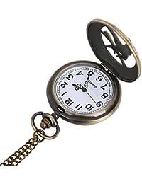 ShopyStore Otoky Reloj De Bolsillo Fob Clock Quartz Pocket Watch Necklace With Chain Gift Necklace