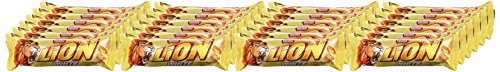 Nestle Lion White Schoko-Riegel (mit Karamell, Weiße Schokolade) 24er Pack (24 x 42g) großpackung