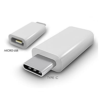 AEMA (TM) Portable Charging & Hi-speed USB 3.1 Type C Male to Micro USB Female Converter Connector Adapter for Type-C Supported Devices, Nokia N1 Pad, Macbook, Letv Smartphone(1pc), Apple New Macbook 12 inch, OnePlus Two, Google Nexus 5X, Nexus 6P, Pixel