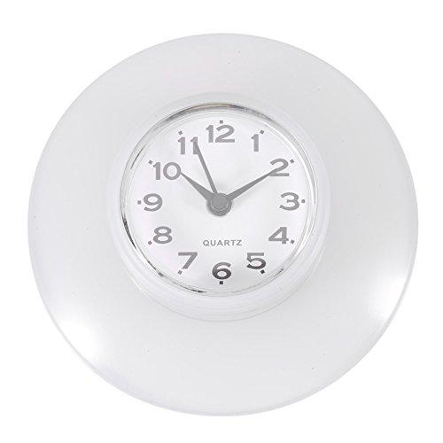 Mini Horloge Murale Ronde Décorative Numérique Étanche pour Salle de Bain 6 couleurs Quartz Horloges Décoration de Salon cuisine ( Couleur : Blanc )