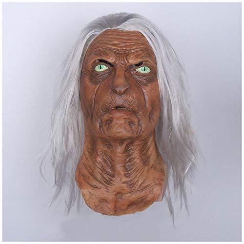 Maske YN Katze Gesichtsmaske Banshee Fox Vollgesichts Horror Dekorative Kapuze Film und Fernsehen Requisiten Halloween Gesicht Latex Cos
