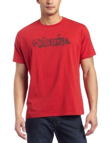 Bear Grylls Herren Logo T Shirt von Craghoppers Rot - Bear Red