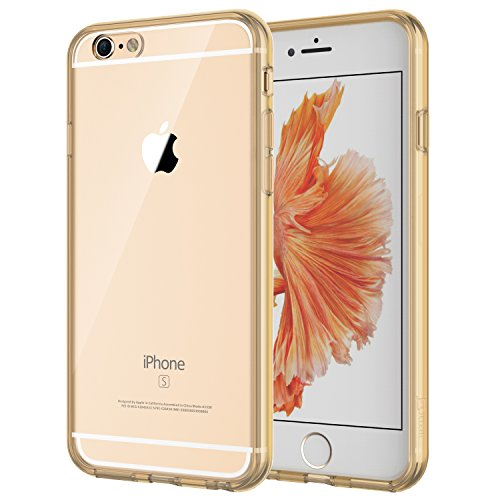 JETech Hülle für iPhone 6s, iPhone 6, Schutzhülle Anti-kratzt Transparente Rückseiteülle, Gold