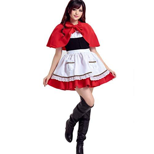 HANMAX Damen 3 Stück Sweet Miss Santa Anzug Kostüm (Miss Santa Anzug)