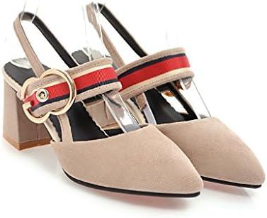 Mei&S Señaló la Mujer Toe Sandalias de Tacón de Bloque
