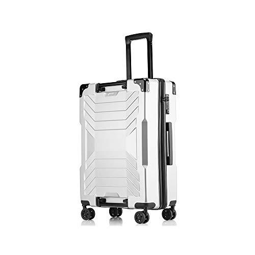 XF Carrelli portavaligie Trolley Universal Wheel Fashion Valigia Studente Password Boarding può contenere Li Box 65X44X26 Nero Bianco Argento Giallo