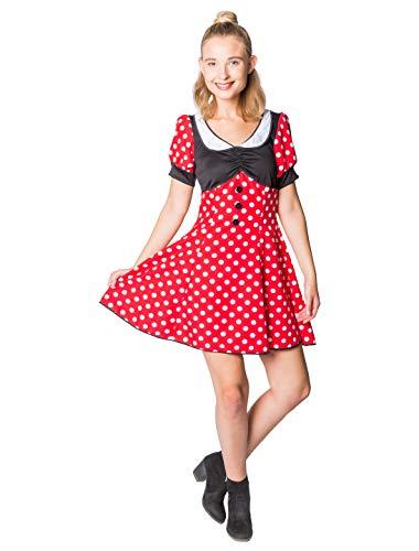 Kleid Mini Maus Damen 46