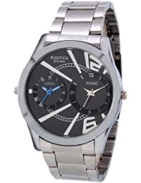 Exotica Black Dial Analogue Watch for Men (EF-Dual-99-Black)