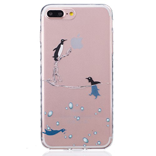 Meet de Housse pour Apple iphone 5S /iphone SE Soft TPU Doux Silicone Bumper Case Coque - Campanula plume manchot