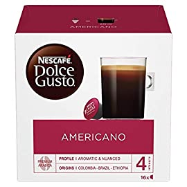 NESCAFÉ Dolce Gusto Americano Coffee Pods, 16 Capsules (48 Servings, Pack of 3, Total 48 Capsules)