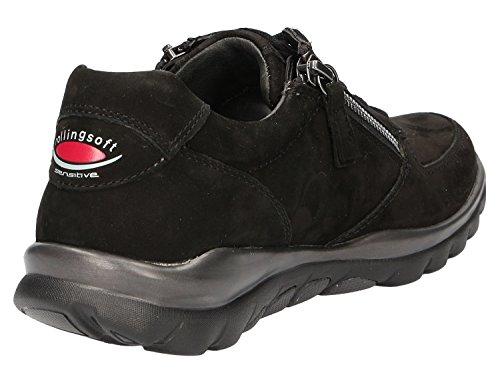 Gabor Shoes Rollingsoft, Scarpe Stringate Derby Donna Nero (Schwarz)