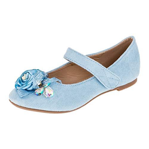 Blaue Kostüm Ballerina - Blaue Mädchen Prinzessinnen Königinnen Ballerinas Schuhe in verschiedenen Designs M520bl1 Blau 24 EU