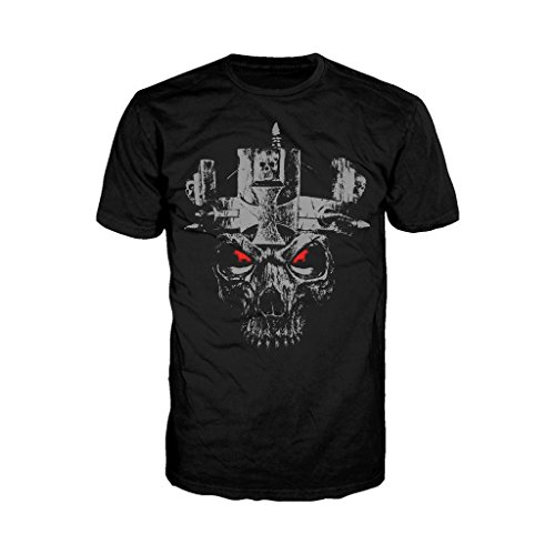 WWE Triple H Skull Official Men's T-Shirt (Black) (X-Large) (T-shirt Triple H)
