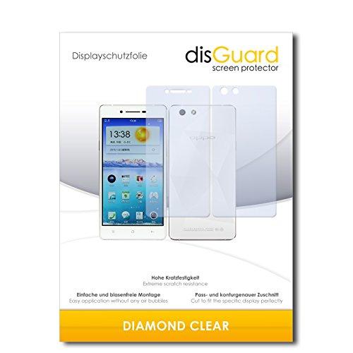 3 x disGuard® Schutzfolie Oppo R1x Bildschirmschutz Folie