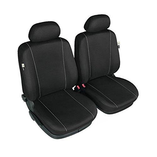 gsmarkt | Sitzbezüge Front 1+1 Schwarz Sitzbezug für Auto Sitzschoner Schonbezüge Autositz Autositzbezüge Sitzauflagen Sitzschutz Herman