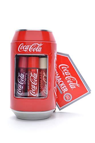 Markwins - Lip Smacker Coca Cola Dose mit 6 Lippenpflegestiften in unterschiedlichen Geschmacksrichtungen -