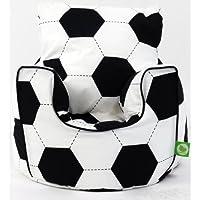 Cotton Football Bean Bag Arm Chair with Beans