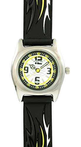 Jacques Farel Armbanduhr Tribal - Rasante Dynamik-Uhr mit Leuchtzeiger - schwarz