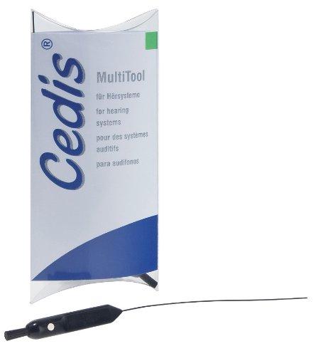 Preisvergleich Produktbild Cedis MultiTool, 5 Stück, Spezialwerkzeug für Hörgeräte mit drei Funktionen - Nr. 78041