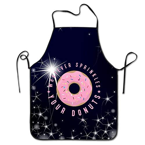 Cap clothes Whatever Sprinkles Your Donuts Kitchen Apron for Women Personalised Apron Dress Men Cooking Apron Pinafore