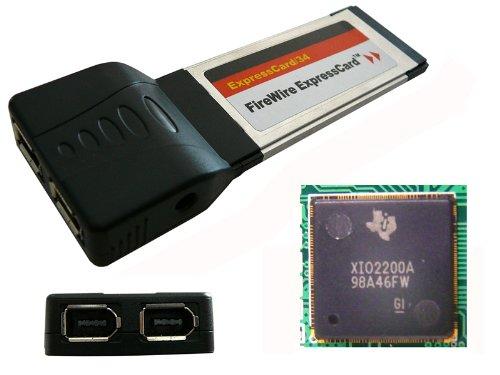 Kalea-Informatique-Scheda Express Card (ExpressCard 34mm)-2porte FireWire IEEE1394a-Chipset Texas Instruments