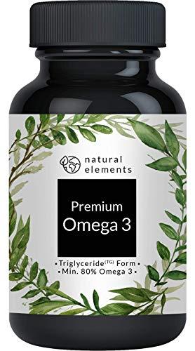 Omega 3 Fischöl - Einführungspreis - Premium: 80{1702ddf2f519c69edccf4011973fa4371289710746ffb0ed25919a0f0d409718} Omega 3-Gehalt in Triglycerid-Form - Aufwendig aufgereinigt, hochdosiert und aus nachhaltigem Fischfang - 120 Kapseln