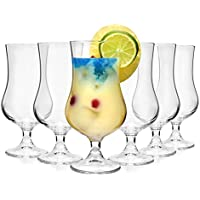 Bormioli Cocktailglas Set 'Tropical' 6 teilig | Füllmenge 425 ml | Gesamthöhe des Glases 17,7 cm | Stylisches Universalglas für Cocktails, Bier oder Softdrinks …