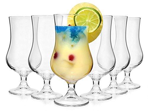 Bormioli Cocktailglas Set 'Tropical' 6 teilig   Füllmenge 425 ml   Gesamthöhe des Glases 17,7 cm   Stylisches Universalglas für Cocktails, Bier oder Softdrinks ?