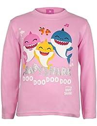 Baby Shark and Family Chicas Manga Larga Camiseta| mercancía Oficial