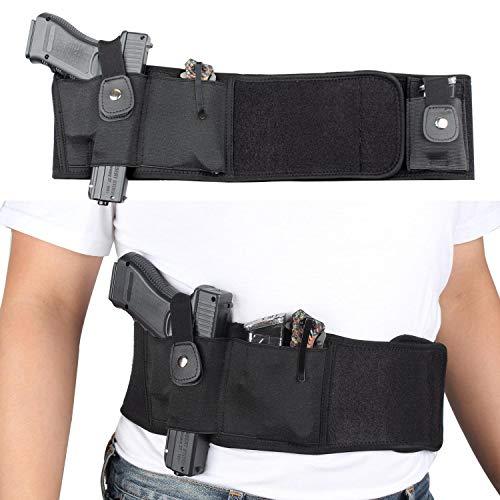 Kosibate - Funda de Neopreno para Correa de Vientre Oculta para Mujeres y Hombres, Compatible con 1911 Glock 19 Todas Las Pistolas compactas y de tamaño Completo