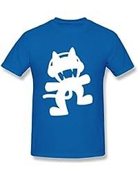 limei Hombre Cute Monstercat camiseta de algodón 100%